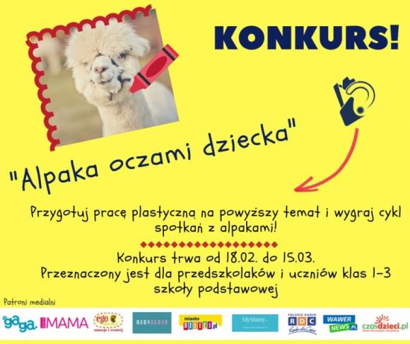 """Konkurs dla szkół i przedszkoli """"Alpaka oczami dziecka""""! LIFESTYLE, Dziecko - """"Alpaka oczami dziecka"""" – pod takim hasłem odbywa się konkurs skierowany do przedszkoli oraz klas 1-3 szkół podstawowych z Warszawy i okolicznych powiatów."""
