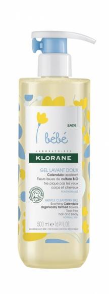 Klorane Bebe Calendula żel myjący ciało i włosy dla dzieci od urodzenia LIFESTYLE, Dziecko - Od 1 dnia życia, dla noworodków i niemowląt. Do włosów i ciała, do skóry normalnej.