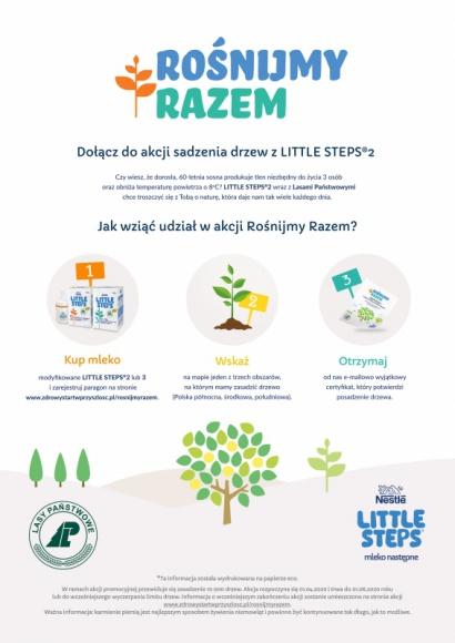 Rośnijmy razem! Dołącz do akcji sadzenia drzew z LITTLE STEPS®2 LIFESTYLE, Dziecko - Z radością obserwujesz rozwój swojego dziecka? Chcesz, aby dorastało w przyjaznym świecie, blisko natury? Wspólnie z marką LITTLE STEPS®2 rodzice wraz ze swoim maluszkiem będą mogli przyczynić się do zasadzenia drzewa i czynić środowisko piękniejszym.